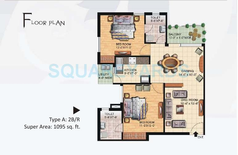 4 Bhk 2800 Sq Ft Apartment In Great Value Sharanam