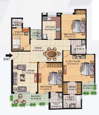 great value sharanam apartment 3bhk 1710sqft 1