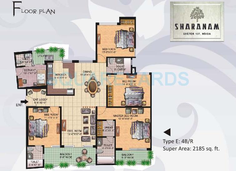 great value sharanam apartment 4bhk 2185sqft 1