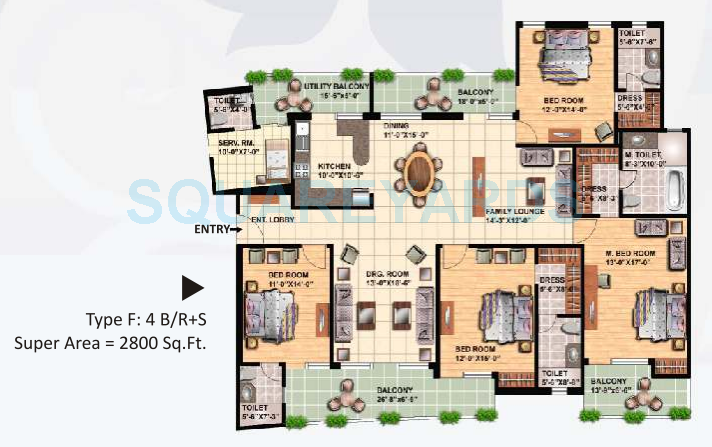 great value sharanam apartment 4bhk 2800sqft 1