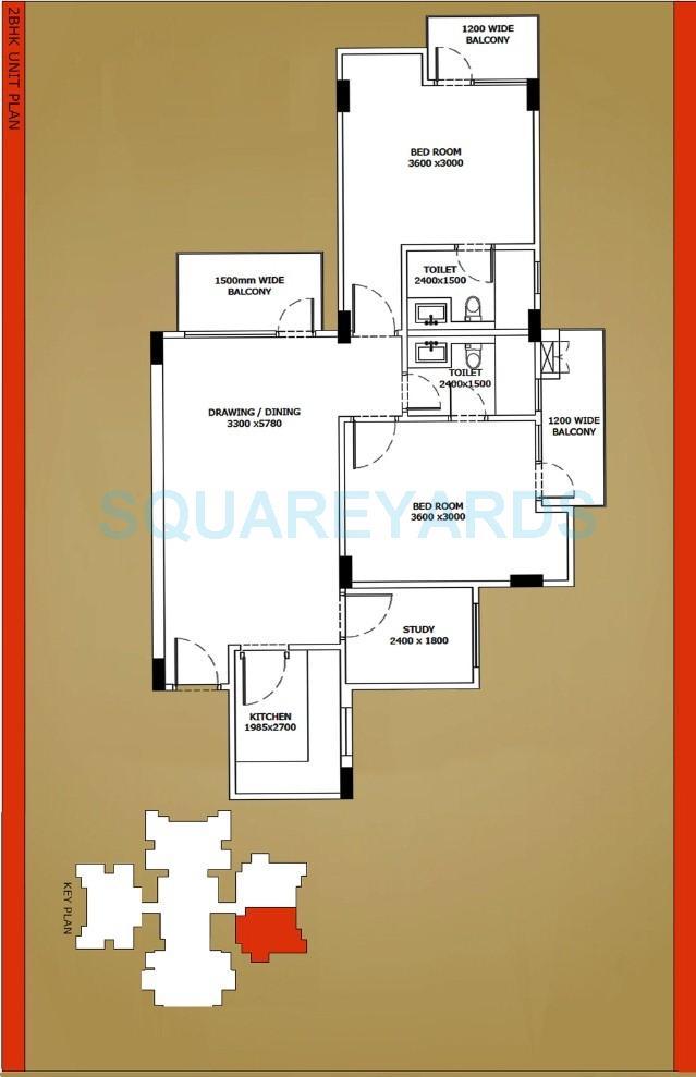 horizone iridia apartment 2bhk st 1150sqft 1