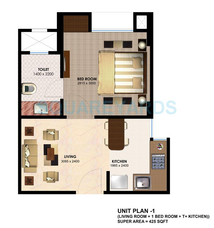 2 Bhk 750 Sq Ft Apartment In Imperia H2o Residency