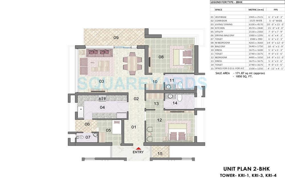 jaypee greens kristal court apartment 2bhk 1850sqft 31