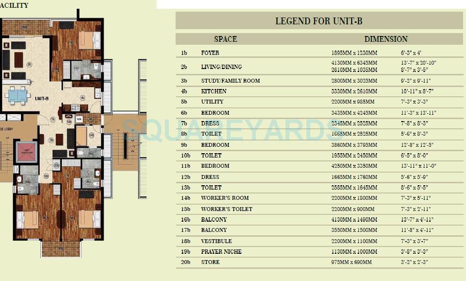 jaypee greens pavilion court royale apartment 3bhk st sq 2250sqft 1
