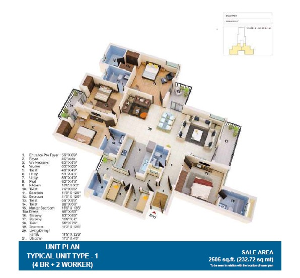 jaypee greens the orchards apartment 4 bhk 2505sqft 20211725111722