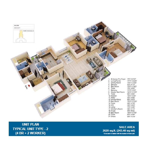 jaypee greens the orchards apartment 4 bhk 2620sqft 20215925105925