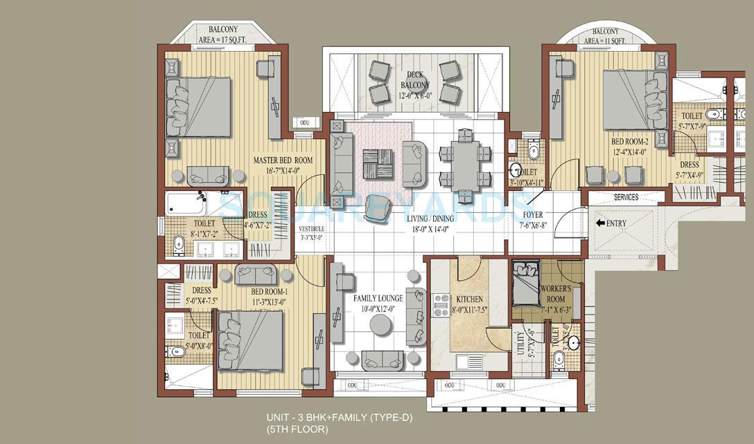 jaypee knight court apartment 3bhk 2055sqft 1