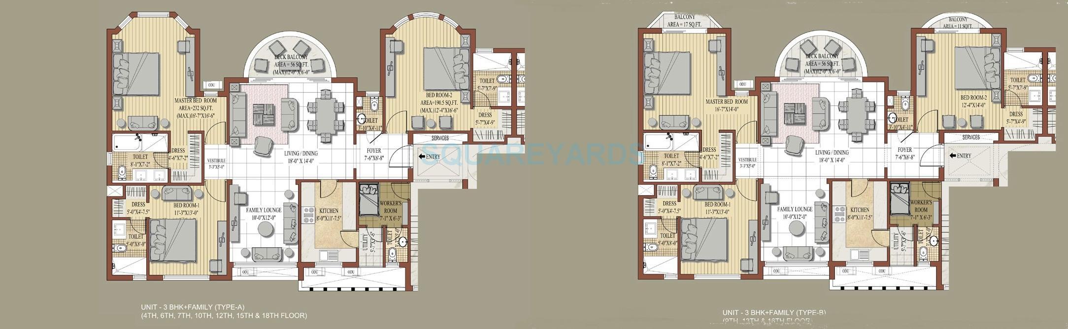 jaypee knight court apartment 3bhk 2070sqft 1