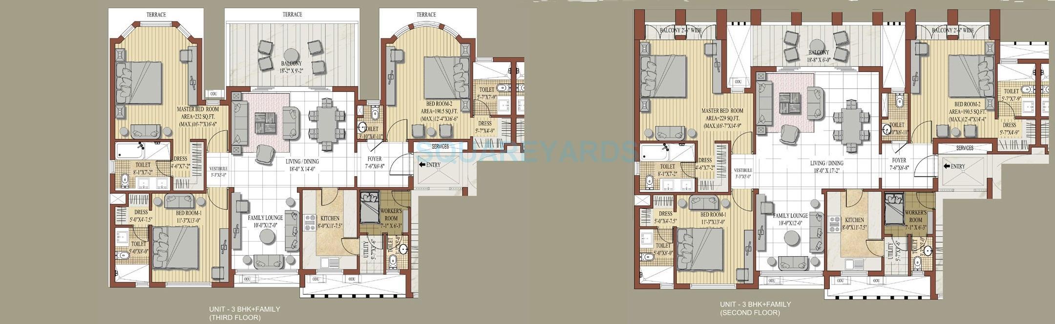 jaypee knight court apartment 3bhk 2300sqft 1
