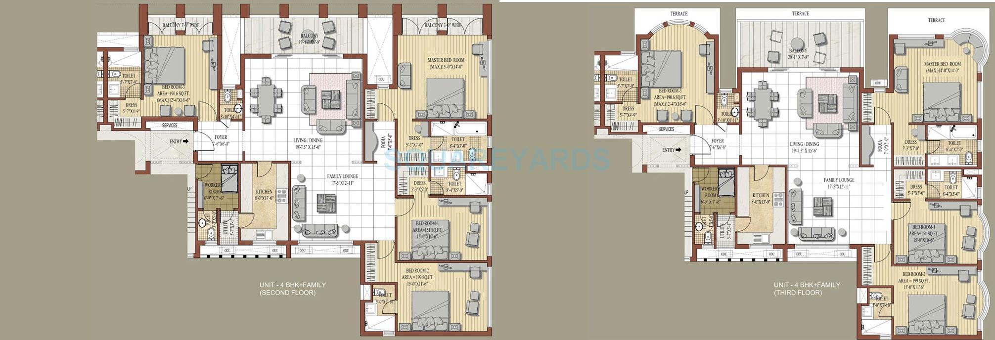 jaypee knight court apartment 4bhk 2950sqft 1