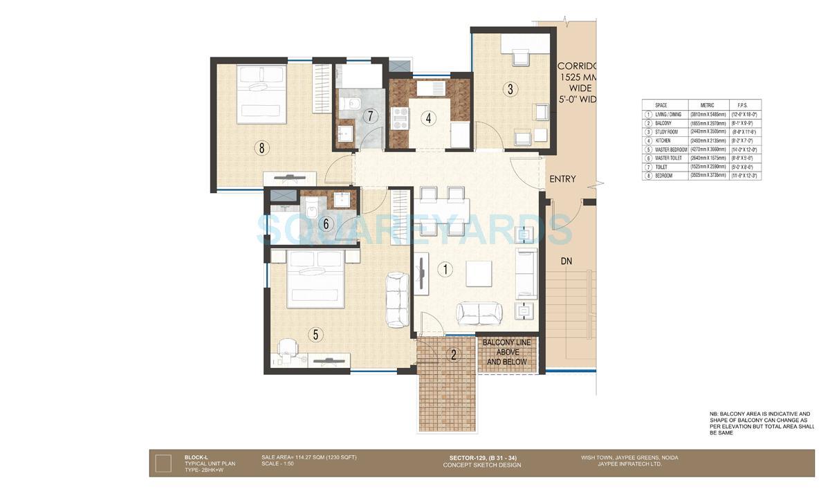 jaypee krescent homes apartment 2bhk 1230sqft 1
