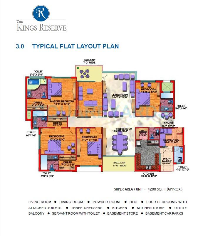 kailash nath the kings reserve apartment 4bhk sq 4200sqft 1