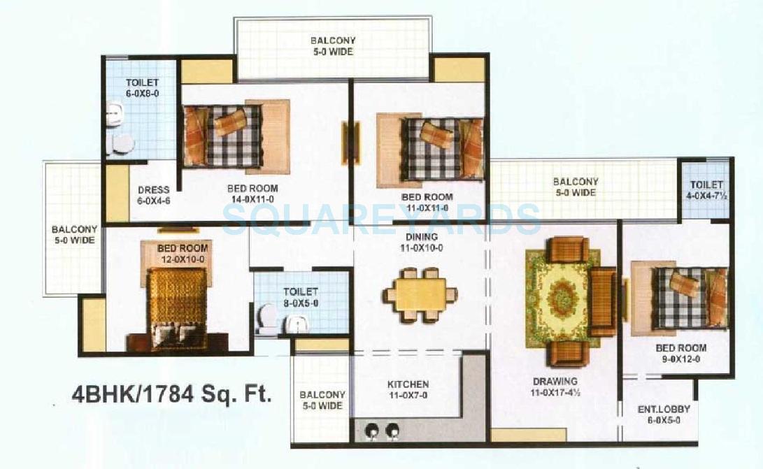 kbnows apartment apartment 4bhk 1784sqft 1