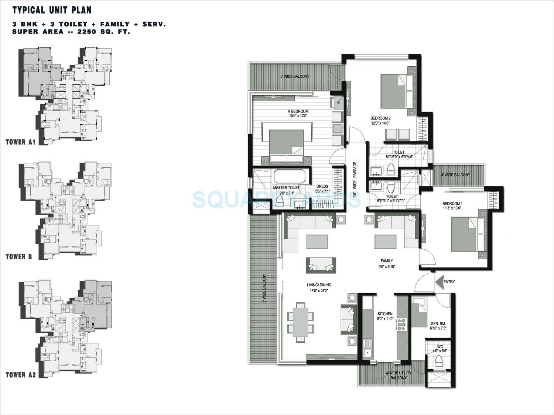 lotus greens isle apartment 3bhk 2250sqft 1