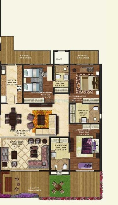 mahagun manorial apartment 3bhk 2625sqft 1