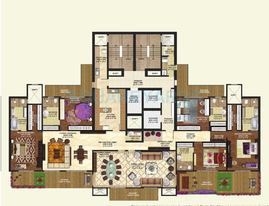 mahagun manorial apartment 5bhk 6100sqft 1