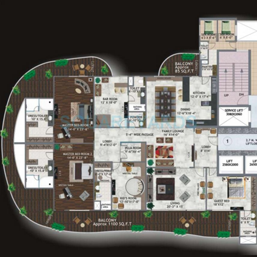 mahagun marvella apartment 4bhk 5825sqft 1