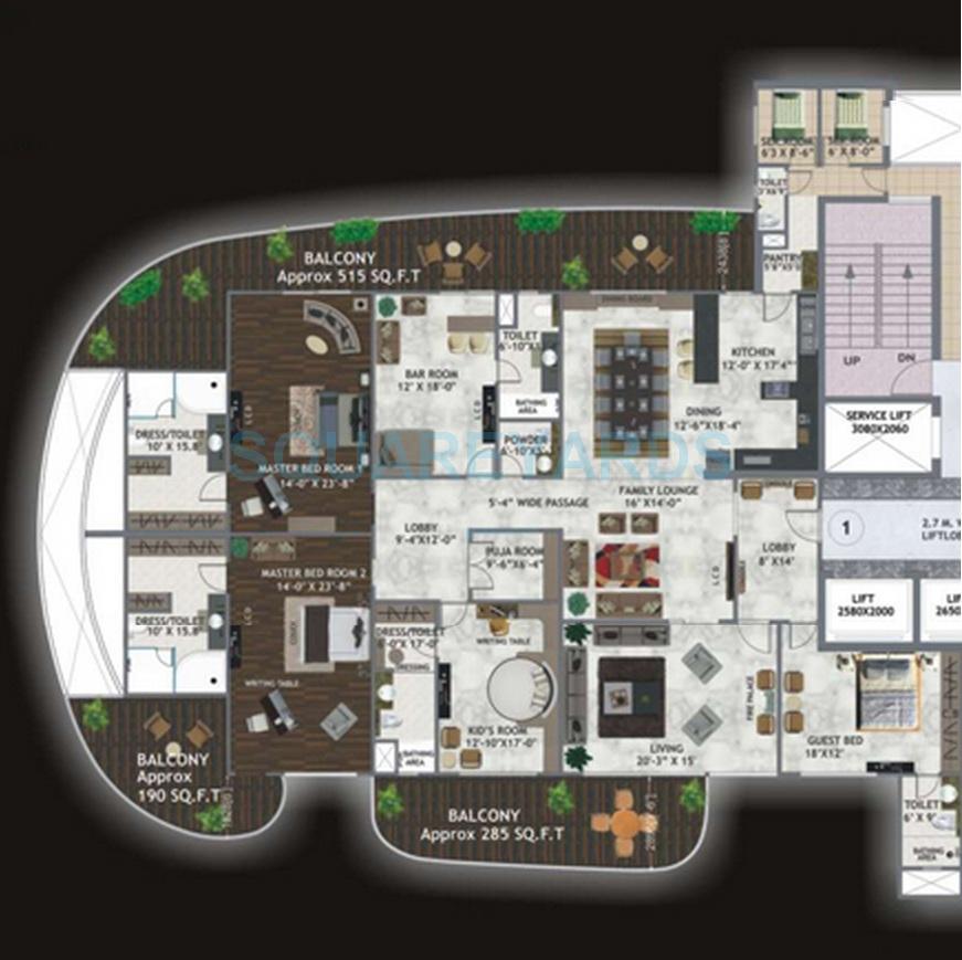 mahagun marvella apartment 5bhk 5600sqft 1