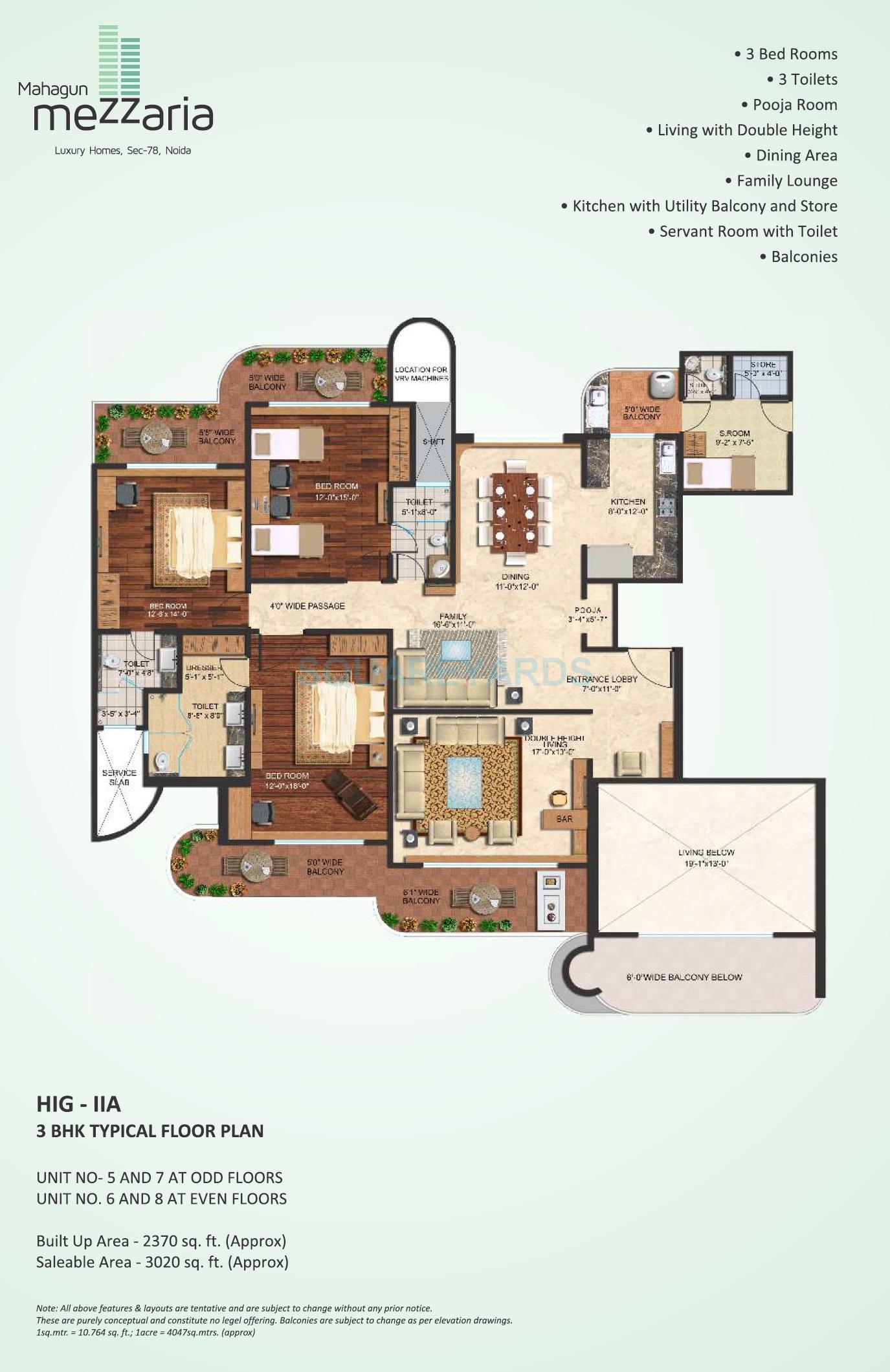 mahagun mezzaria apartment 3bhk 3020sqft 1