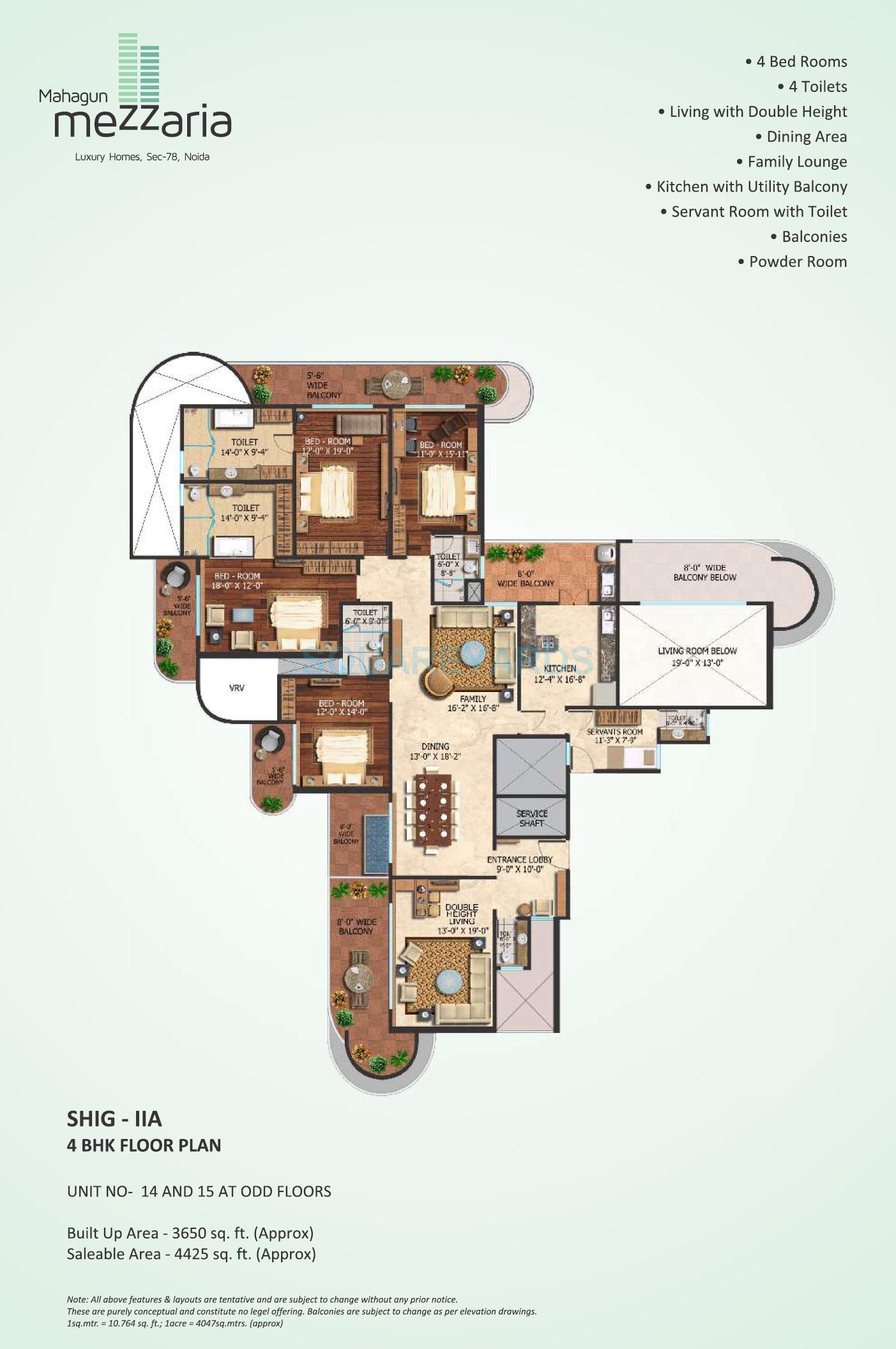 mahagun mezzaria apartment 4bhk 4425sqft 1