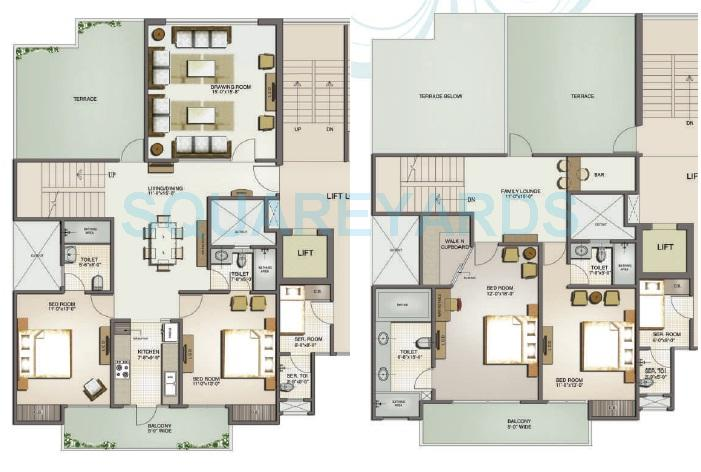 mahagun moderne low rise shig apartment 4bhk 2840sqft 1