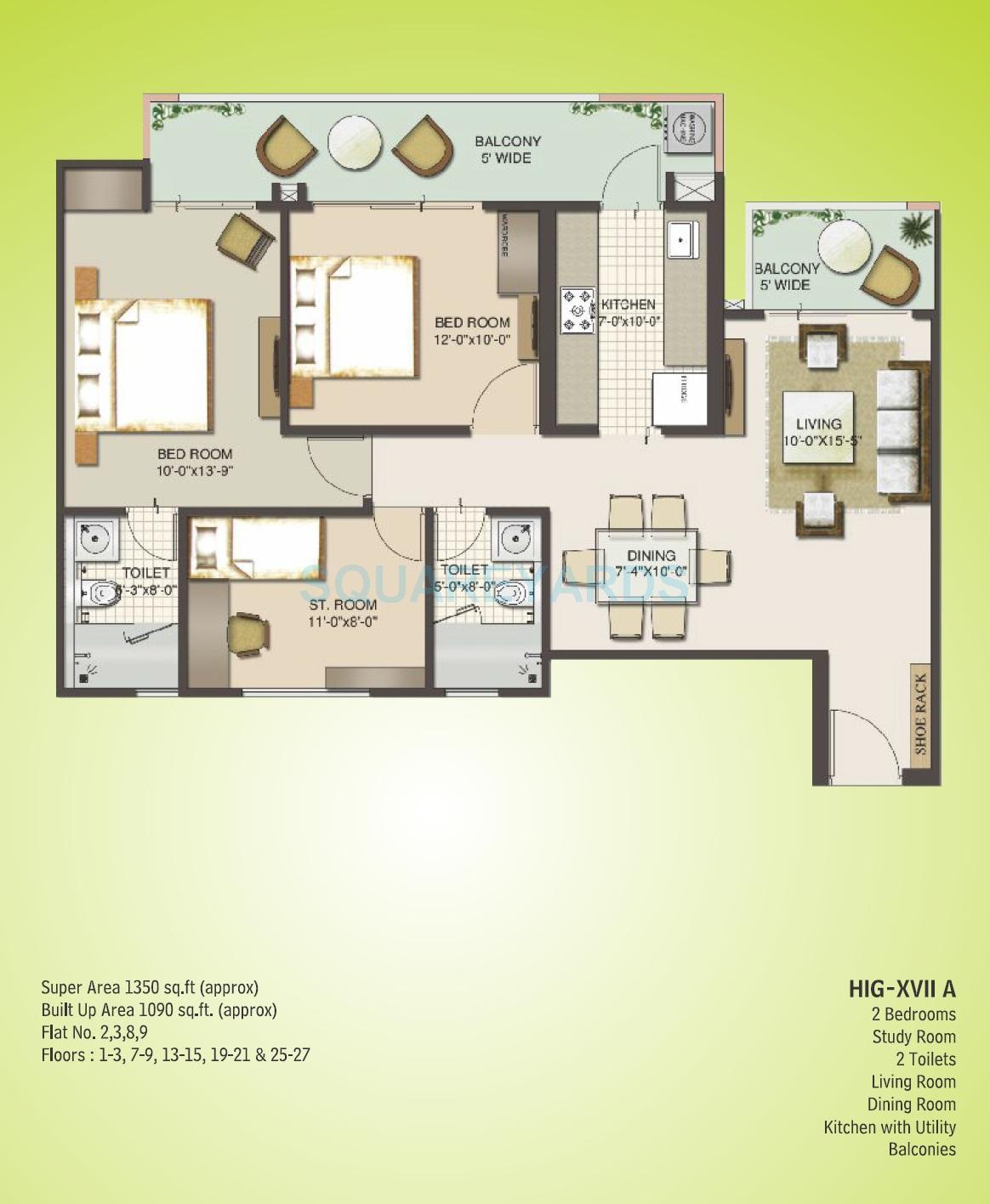 mahagun moderne verona apartment 2bhk 1350sqft 1