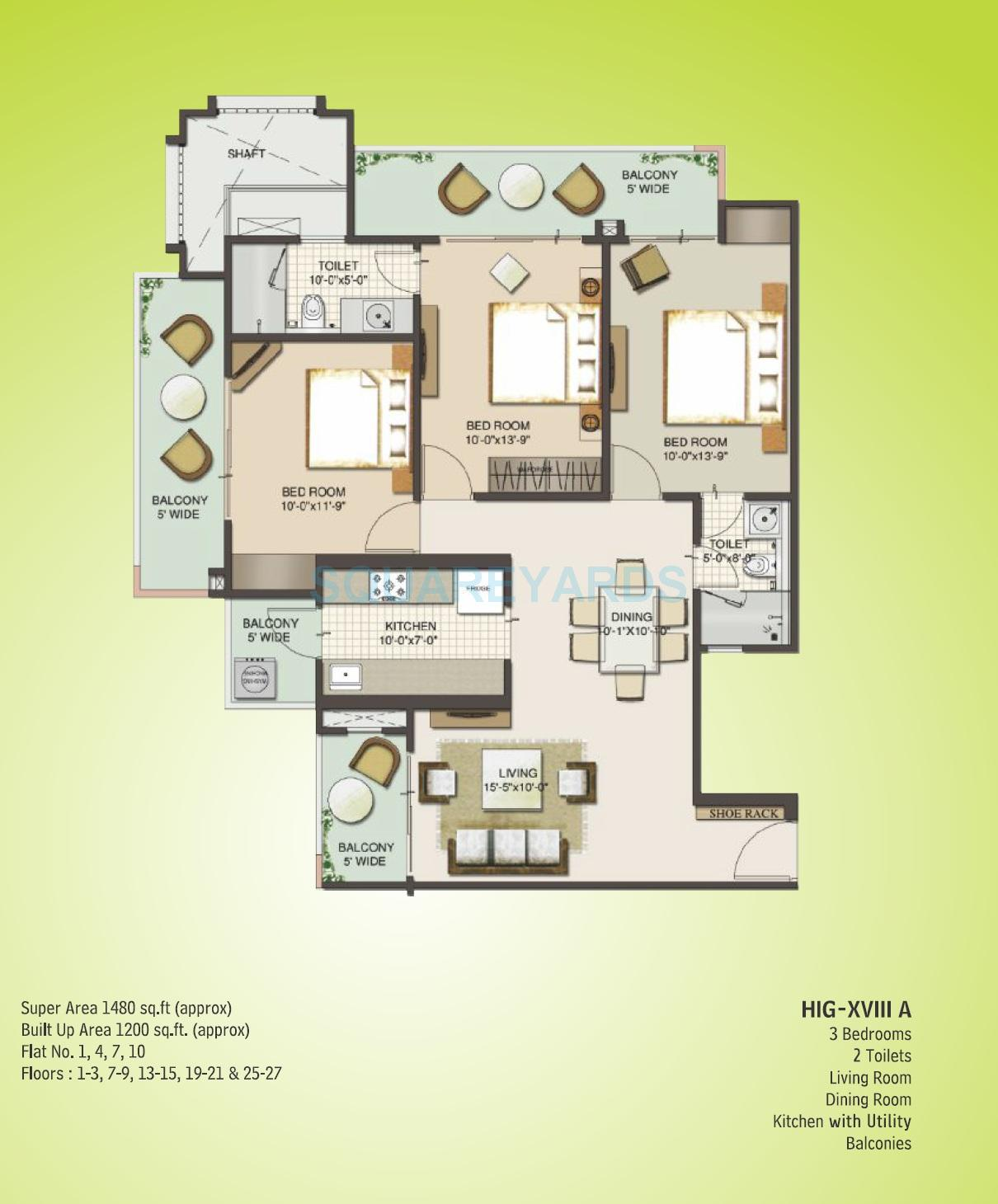 mahagun moderne verona apartment 3bhk 1480sqft 1