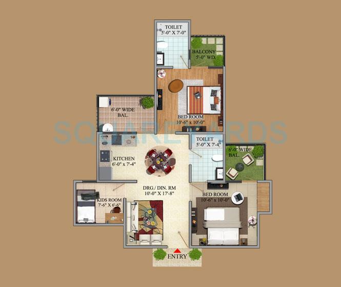 mahaluxmi green mansion apartment 2bhk 1050sqft 1