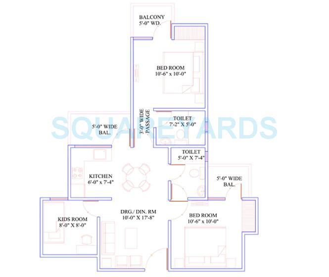 mahaluxmi green mansion apartment 2bhk 1095sqft 1