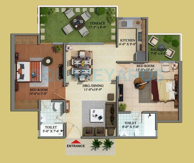 mahaluxmi green mansion apartment 2bhk 1275sqft 1