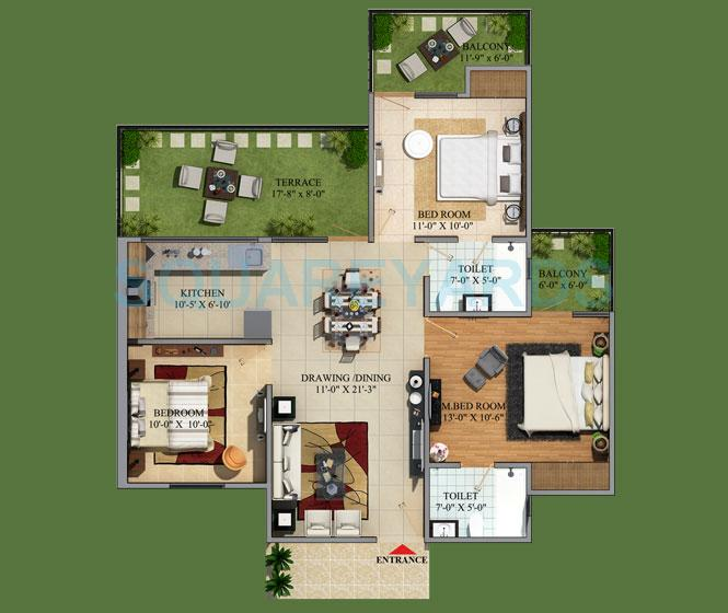 mahaluxmi green mansion apartment 3bhk 1515sqft 1