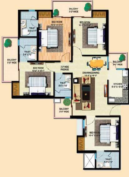 mahaluxmi migsun ultimo apartment 4bhk 1595sqft 1
