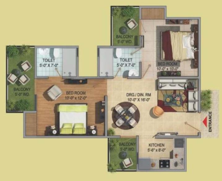 migsun green mansion apartment 2bhk 995sqft 81