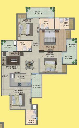 migsun wynn twinz apartment 4bhk 1595sqft 1