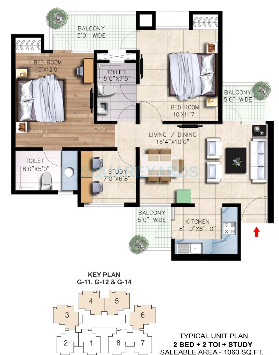 nirala greenshire apartment 2bhk st 1060sqft 1