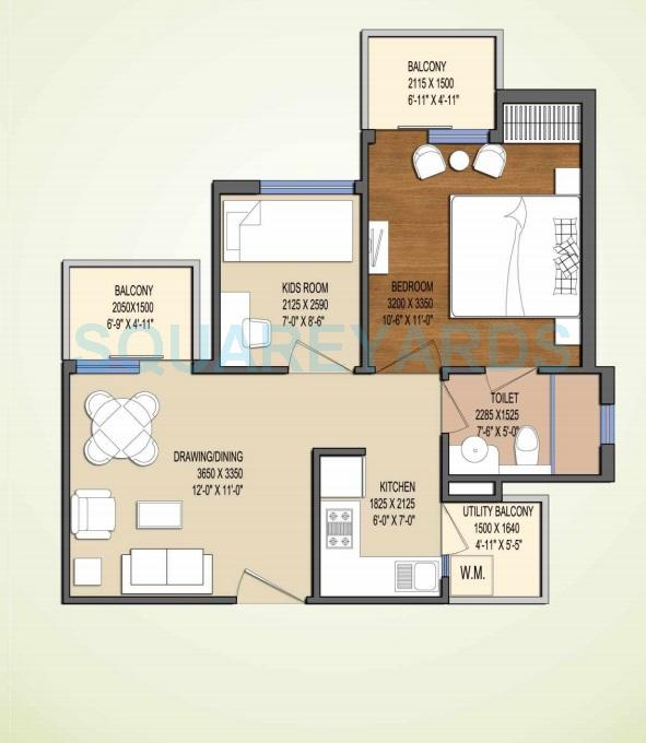 oasis my homes apartment 1bhk 725sqft 1