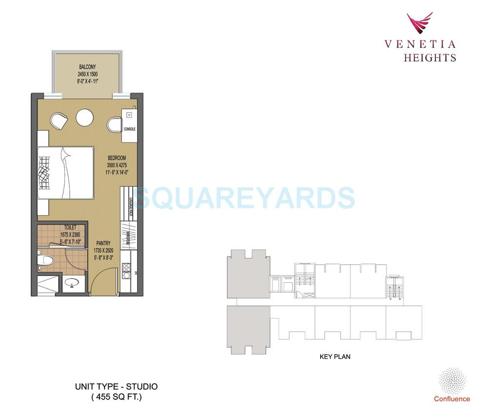oasis venetia height apartment 1bhk 455sqft 1
