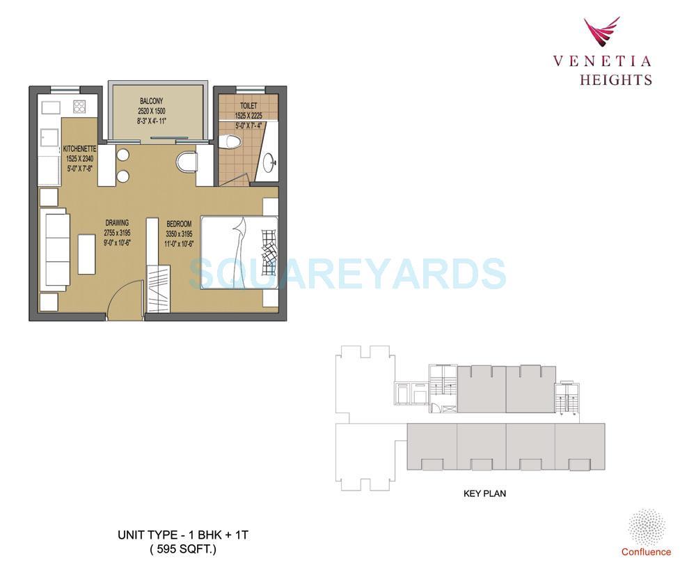 oasis venetia height apartment 1bhk 595sqft 1