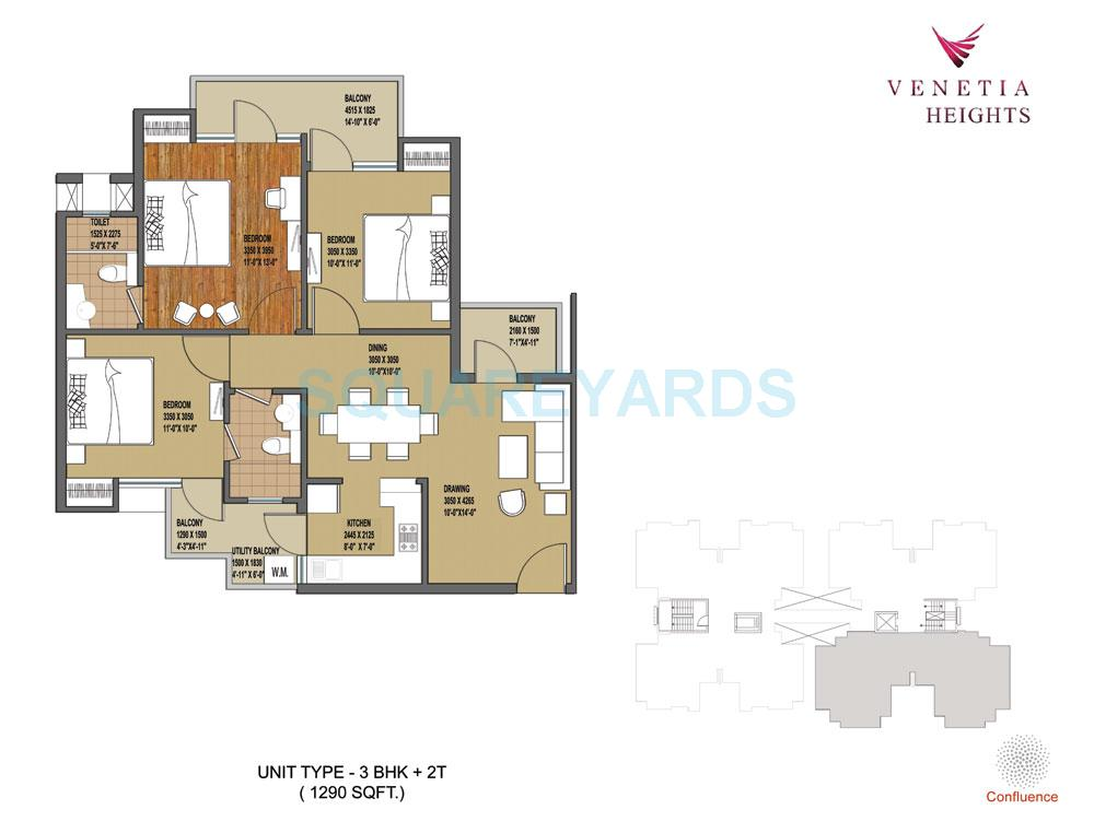 oasis venetia height apartment 3bhk 1290sqft 1