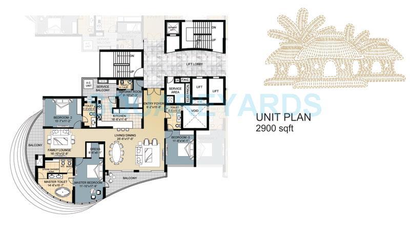 omaxe forest spa apartment 2bhk sq 2900sqft 1