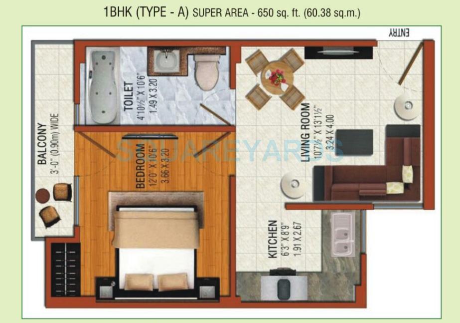 omson nature valley apartment 1bhk 650sqft 1