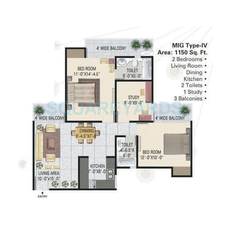 panchsheel greens apartment 2bhk st 1150sqft 101