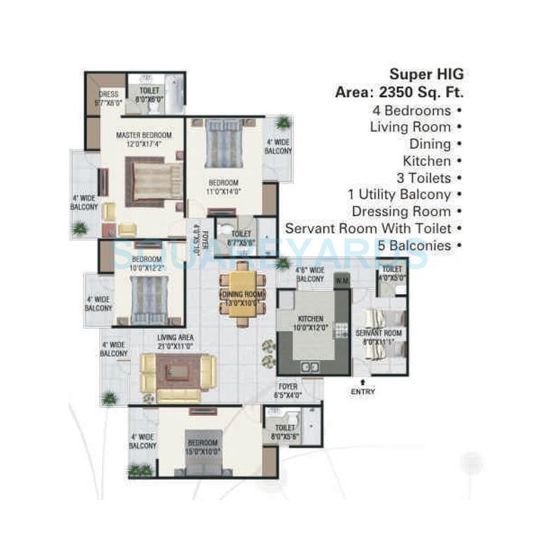 panchsheel greens apartment 4bhk sq 2350sqft 1