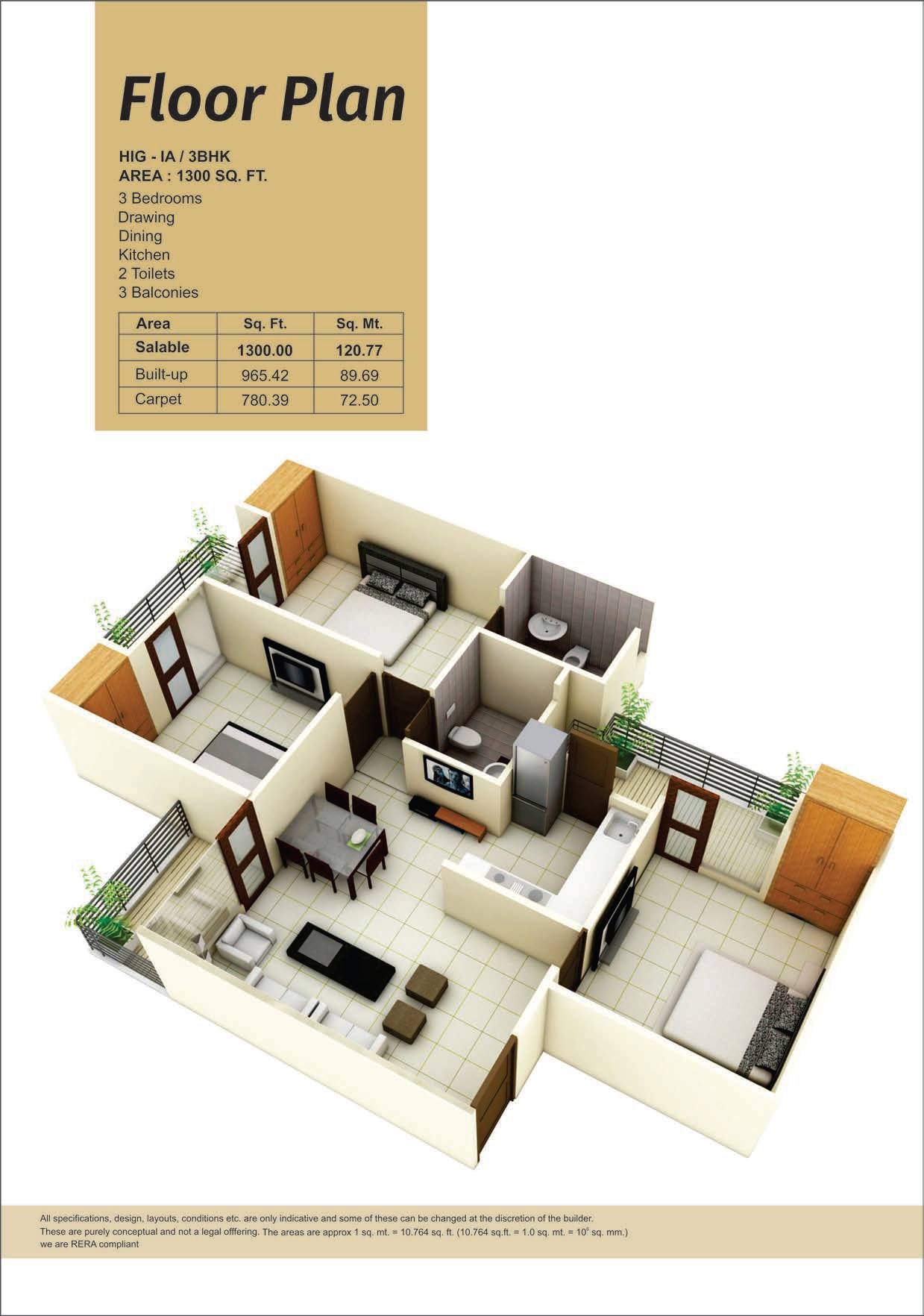 panchsheel pinnacle apartment 3bhk 1300sqft 20203201113237