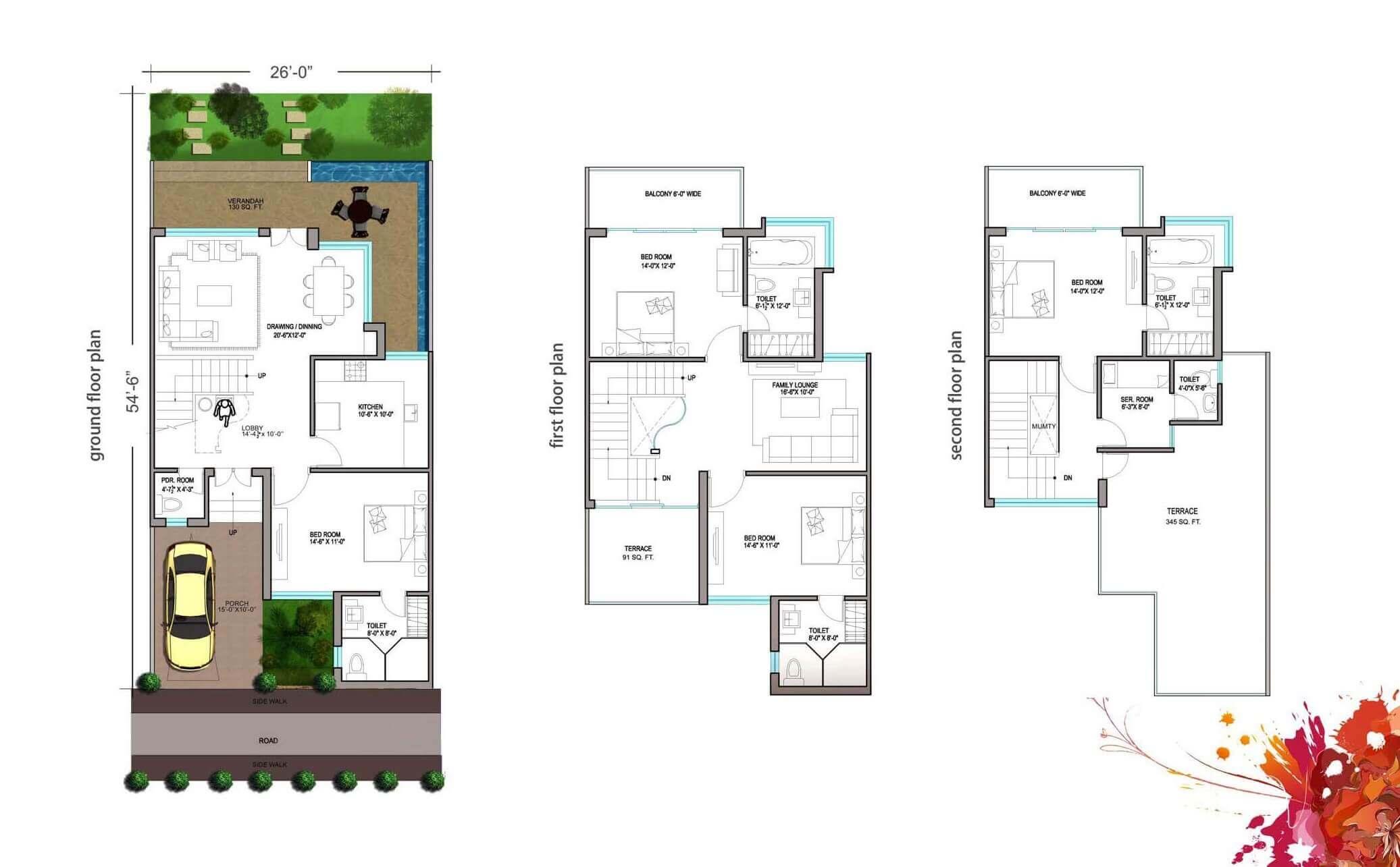 paramount golfforeste villas villa 4bhk sq terrace 3008sqft 1