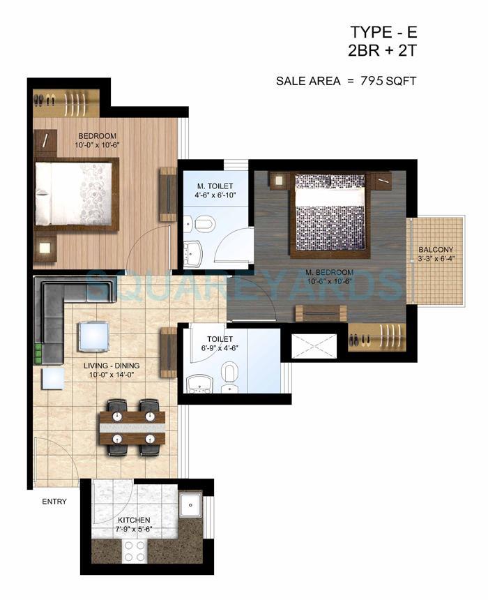 paras seasons apartment 2bhk 795sqft 1