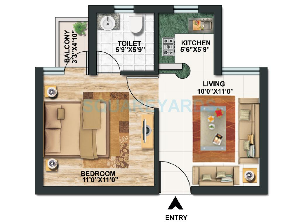 1 Bhk 450 Sq Ft Apartmentstudio Apatments For Sale In