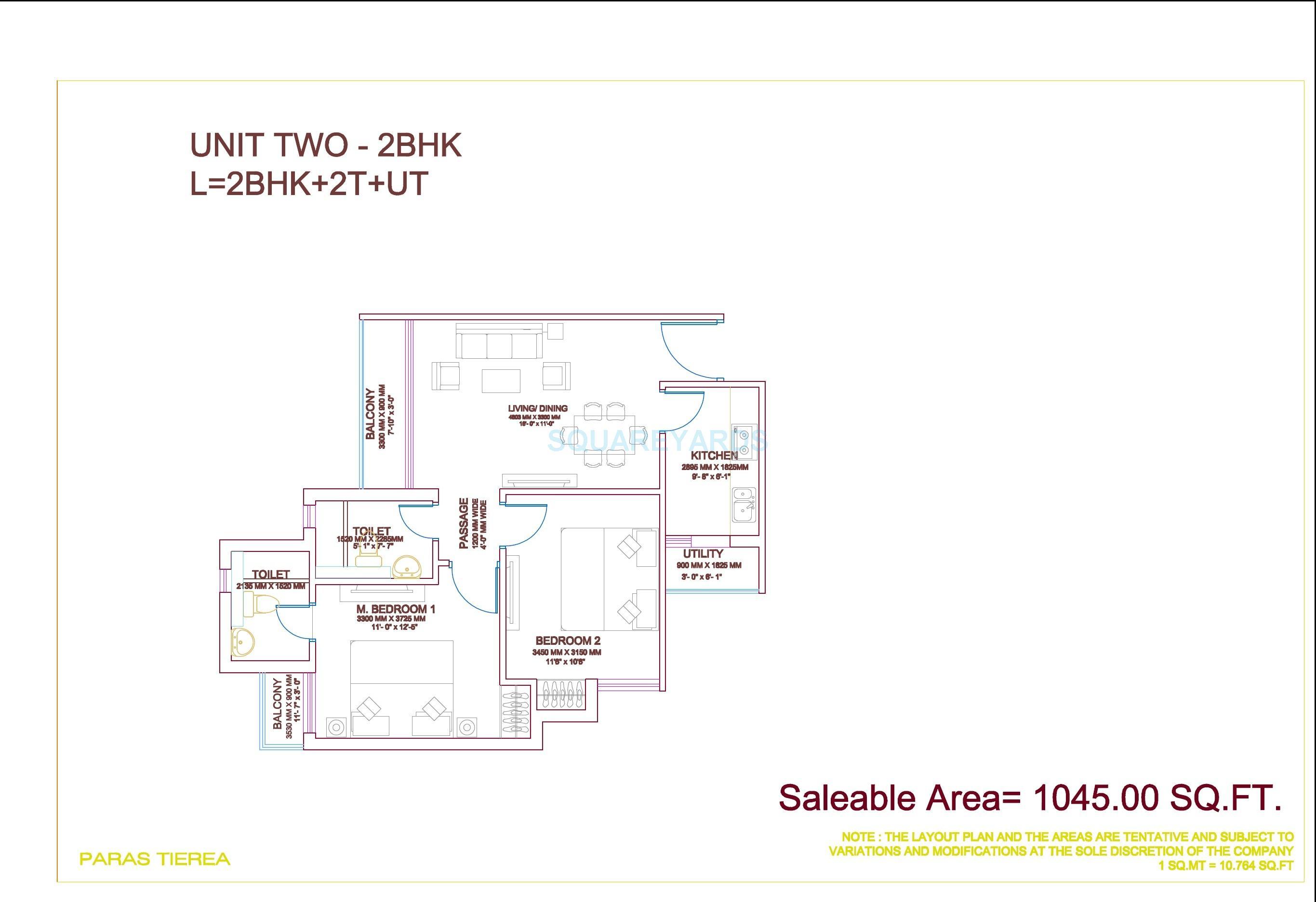 paras tierea duplex apartment 2bhk 1045sqft 1
