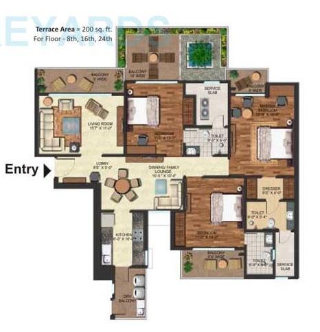 prateek edifice apartment 3bhk 2070sqft 41