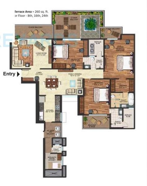 prateek edifice apartment 3bhk 2500sqft 41